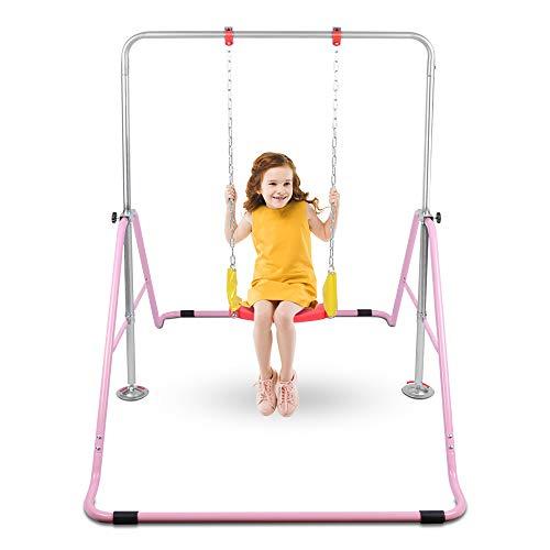 OneTwoFit 鉄棒 折りたたみ 逆上がり あそび 運動 ブランコが付き てつぼう 高さ調節 家庭用 子ども用 室内用 屋外使用可 耐荷重(約)50kg 滑り止め OT128
