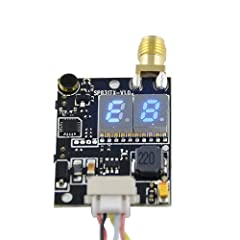 Transmitting power: 600mW, designed for all kinds of drones Bundled with antenna: Transmitting distance >3000m (open area) Two switching buttons: easy to change frequency channels and bands Micro sized (dimension: 1.6x 0.9x 0.4inches) and light weigh...