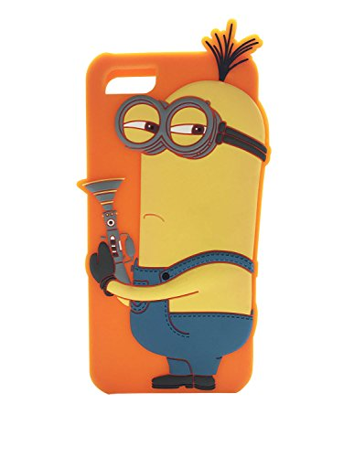 Minions 3D Molded Silicone Case for iPhone 5, 5C and 5s (Retail Packaging)