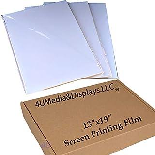 "$31 » 4UMedia&DisplayLLC -13""x19"" Waterproof Inkjet Transparency Silk Screen Printing Film Paper 25 Sheets"