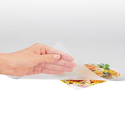 プラス デスクマット 透明 マウス対応 両面転写軽減 600×450mm 斜めカット 41-046