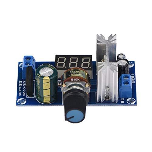 Regulador de potencia, LM317 Regulador de voltaje ajustable Tablero de fuente de alimentación Pantalla digital de voltaje