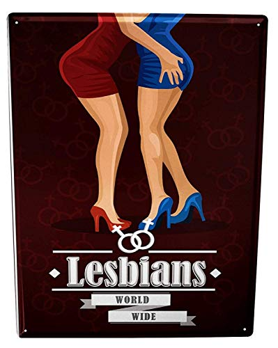 Collectible Wall Art 12'X16'Anniversary Party Fun Lesbians,Metal Sign Retro Tin Plaque Advert Love Aluminum Wall for Garage Man Cave Cafe Bar Pub Club Caffee Patio Home Decoration