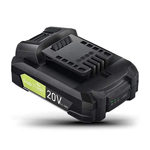 SnapFresh バッテリー 20V 純正 専用バッテリー 交換用バッテリー 互換バッテリー SnapFresh20V電動工具専用 BBT-POB04・BBT-YOR01・BBT-JOL01対応 2.0Ah 大容量 3段階LED残量表示付き 1時間急速フル充電 リチウムイオン電池 PSE認証済み BBT-DC20A