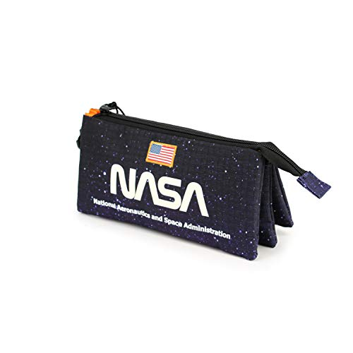 Karactermania NASA Galaxy - Estuche Portatodo Triple HS, Azul