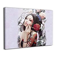 Skydoor J パネル ポスターフレーム 綺麗な女 刺青 インテリア アートフレーム 額 モダン 壁掛けポスタ アート 壁アート 壁掛け絵画 装飾画 かべ飾り 50×40