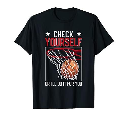 Baloncesto divertido Compruébalo tú mismo o lo haré por ti Camiseta