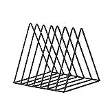 KERDEJAR Metal Iron Storage LP Record Rack Triangle Shaped Book Magzine Holder Multifunzione Desk Record Shelf Organizer Home Office Decor