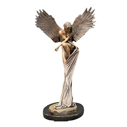 Engel Figur 3D Statuen EngelsflüGel Kunst Skulptur Dekorative Statue Vintage Art Style für Wohnzimmer Schlafzimmer Home Dekoration 15cm