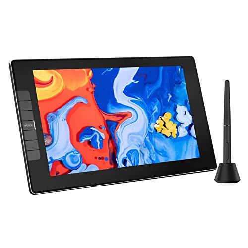 VEIKK VK1200 - Monitor de dibujo gráfico con pantalla táctil con función de inclinación sin batería y 6 teclas de acceso directo (8192 niveles de presión de la pluma y 72% NTSC)