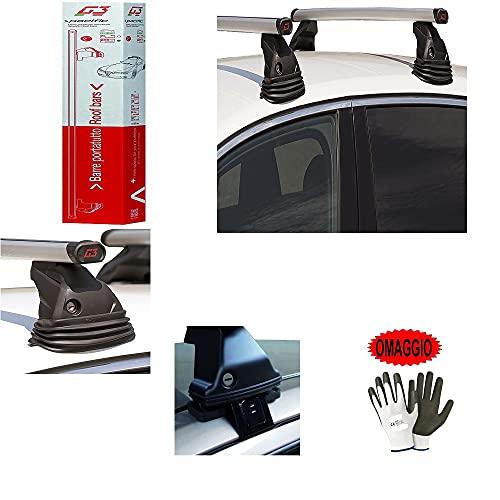 Compatible con Renault Megane SW 5p (95-02) (68072) Barras DE Aluminio para Coche 110CM Barra ESPECÍFICA para Techo DE Coche+Kit DE Montaje HOMOLOGADO