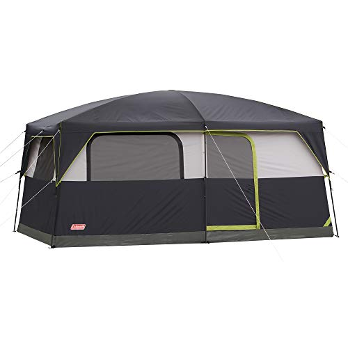 Coleman Prairie Breeze Lighted Cabin Tent, 9-Person , 84″ H x 120″ W x 168″ D.