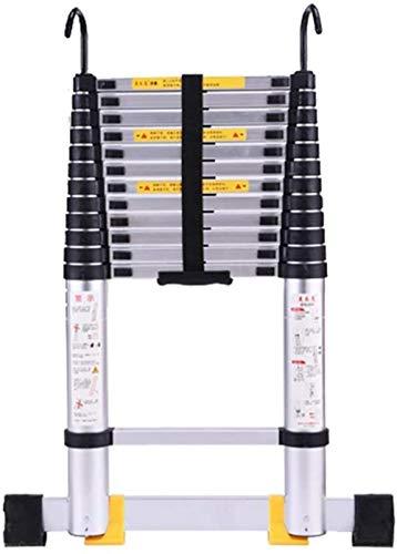 Step stools Telescopic Ladders,Aluminum Telescoping Ladder, Portable Heavy Duty Extension Ladder Engineering Cargo Loft Bench