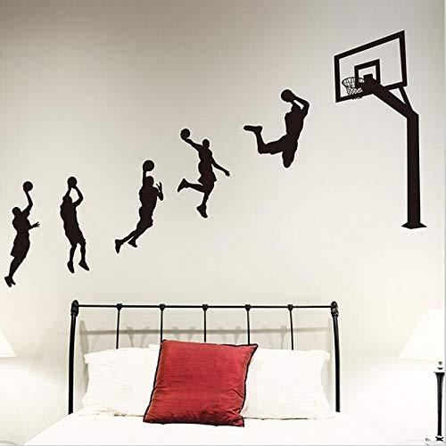 Baloncesto Deportes Layup Slam Dunk Shot Acción NBA Jordan Kobe James Etiqueta de la pared Calcomanía de vinilo Boy Fans Dormitorio Sala de estar Club Decoración para el hogar Mural