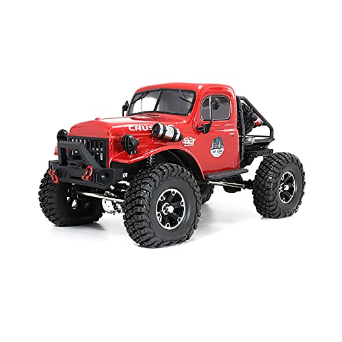 RGT RC Crawlers RTR 1/10 Scale 4WD Off Road Monster Truck Rock Crawler, 2.4Ghz Radio Controlled Off-Road Crawler with LED Lights (EX86181-R)