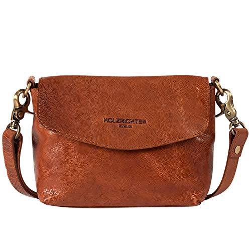 HOLZRICHTER Berlin Umhängetasche (S) - Elegante Vintage Handtasche & Schultertasche Aus Leder, Damen & Herren - Cognac-Braun