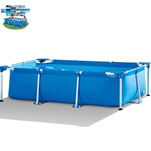 Priority Culture Aufblasbarer Pool Aufblasbares Swim Center,Zusammenklappbares Schwimmbad, Großer Häuslicher Pool Mit Rahmenstruktur, Outdoor-Paddelbecken Für Erwachsene, Verdicktes PVC-Gewebe
