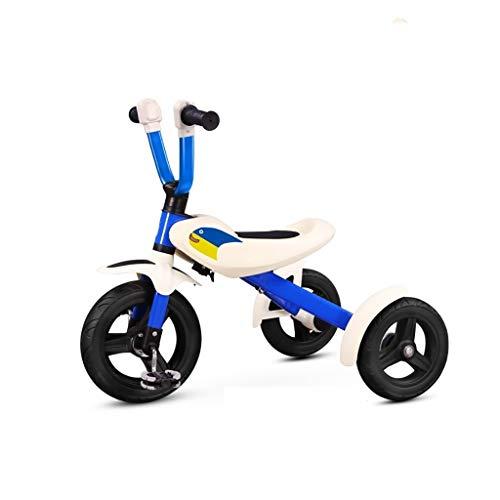 GYF Triciclo for niños Triciclo for niños Triciclo Bicicleta de Tres Ruedas Plegable roja al Aire Libre Diseño de dirección a 45 ° 2-6 años Bebé Niño 50x71x62cm (Color : Blue)