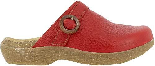 El Naturalista Mujer Sandalias achineladas WAKATIWAI, señora Zuecos,Deslizadores,Zapatillas,Zapato de jardín,Rojo (Tibet),40 EU / 7 UK