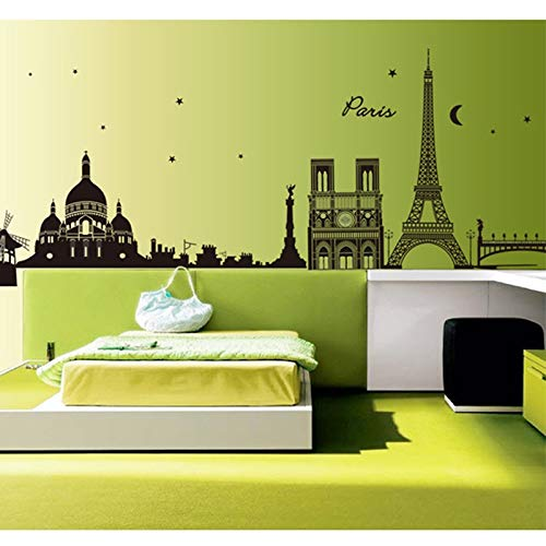 Sticker kunst aan de muur Parijs Eiffeltoren Muur Muursticker Afneembare Art Decal Room TV Muur Bank Muurstickers Home Decoration Stickers