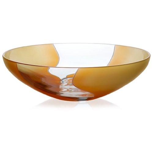 Schale Obstschale Salatschüssel Elements Orange Gelb 30 cm Bleikristall