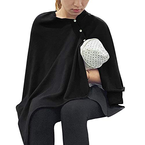 Best Price! Nursing Cover Poncho for Breastfeeding Adjustable Knitted Scarf with Button Closure for ...