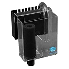 Each box includes everything required to install on your aquarium and includes; Foam prefilter, Clear U-tube syphon, nylon screw & wing nuts, black pre-filter box & 1 in. bulkhead drain. The Eshopps PF-800 Hang on overflow box features a compact U-Tu...