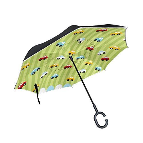 AOMOKI 逆さ傘 逆傘 長傘 日傘 逆折り式傘 晴雨兼用 梅雨対策 UVカット 耐強風 C型 二重構造 車用 男女兼用 車 かわいい 子供