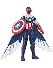 Marvel Studios Avengers Titan Hero Series Captain America Action Figure, 12-inch speelgoed, inclusief vleugels, voor kinderen vanaf 4 jaar