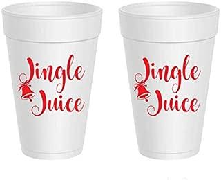 Christmas Styrofoam Cups - Jingle Juice (10 cups)