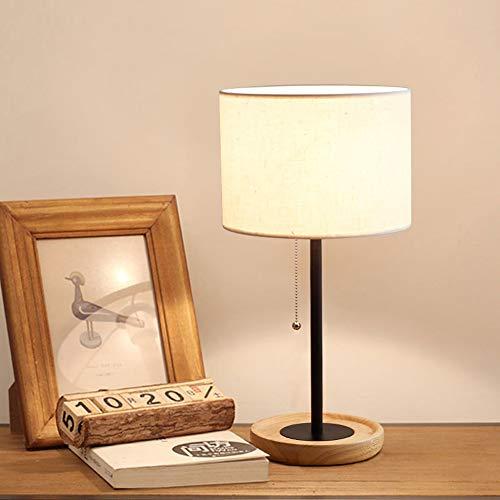 PElight tafellamp van hout, bedlampje vintage, vloerlamp modern op tafel, voor woonkamer, kinderkamer, slaapkamer, eetkamer