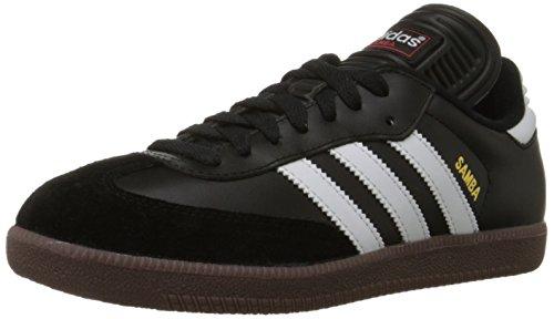 adidas Men's Samba Classic Soccer Shoe,Black/Running White,8 M US