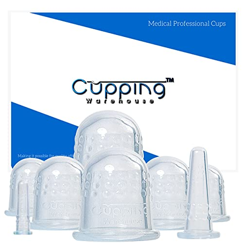 Cupping Warehouse Grip 8 PRO 6570 Silicone Cupping Therapy Sets for Professional Chinese Silicone Massage Cups with Face and Body Decompression Anti Slip Suction Cups