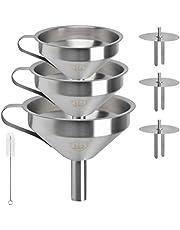 DODUOS Rvs Trechter, 13 cm 15 304 Rvs Keukentrechter met Mesh Voedsel Filter Zeef voor het Overbrengen van Vloeistoffen, Olie, Maken Jam