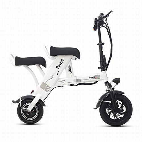AORISSE Bicicletta Elettrica, Scooter Elettrico Portatile Pieghevole A Due Posti da 500 W, Bicicletta Elettrica Tandem per Pendolari per Adulti con Display LCD, velocità Massima 30 Km/H