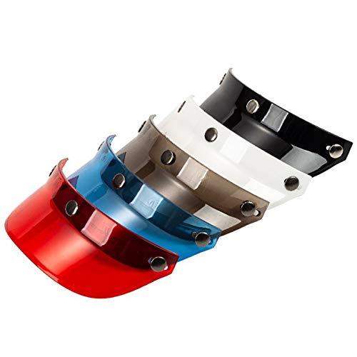 VISLONE Visera Universal Protector contra El Viento Abatible para Casco de Motocicleta de Cara Abierta,3 Botones Universal Mecanismo Ajustable 3 Alturas Incluido