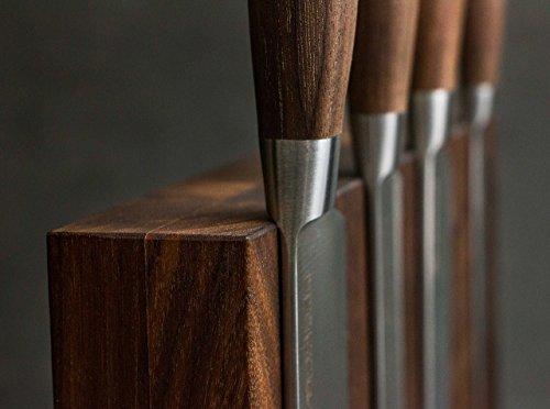 Böker Plus Style Juego Bloque y Cuchillo, Madera, marrón, 24.5 x 10 x 25 cm, 5 Unidades
