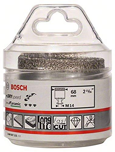 Bosch Professional Diamanattrockenbohrer (für Keramik, Durchmesser 68 mm, Zubehör für Winkelschleifer)