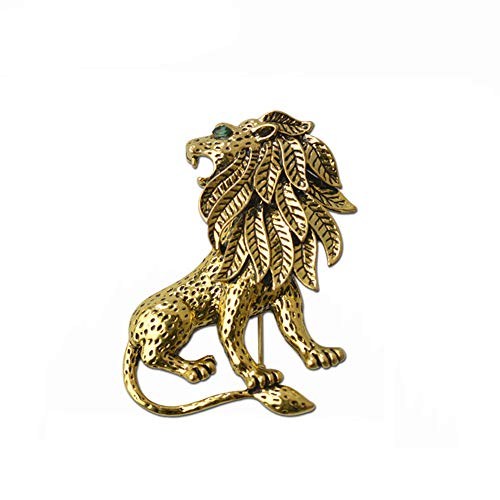 Ogquaton Rhinestone Brooch Pins for Women Lion Jewelry Brooch Pins Durable and Useful