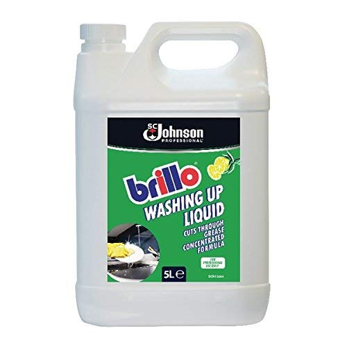 Brillo 3 x Concentrated Washing Up Liquid, 5 L