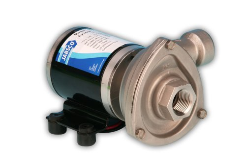 Jabsco 50840-0012 Marine High Flow Low Pressure Cyclone Centrifugal Pump, 29.7 GPM, 12 Volt, Black