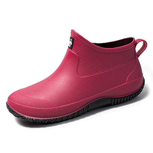 sorliva Gartenschuhe, wasserdicht, Clogs, Regenstiefel, Unisex, zum Reinschlüpfen, leicht, für Damen und Herren, Pink - rose - Größe: 39 EU