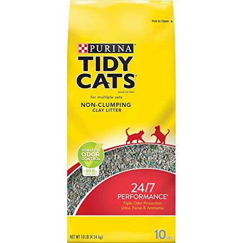 Price comparison product image Purina Tidy Cats Non Clumping Cat Litter,  24 / 7 Performance Multi Cat Litter - (4) 10 lb. Bags