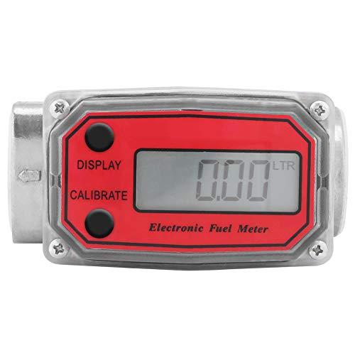 Durchflussmesser, digitaler Durchflussmesser Turbinen durchflussmesser mit LCD-Anzeige, für Turbine, Diesel, Harnstoff, Kerosin, Benzin usw,hohe Genauigkeit,115-120L 1