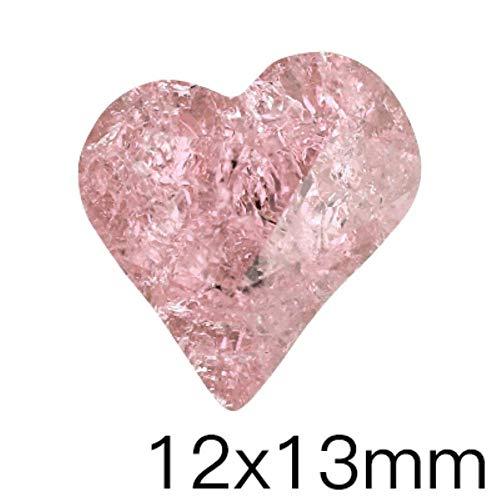 Couleur rose cristal de glace pierres petite taille colle sur strass cristaux à ongles Pointback verre S strass pour ongles, coeur 12x13mm, 10Pcs