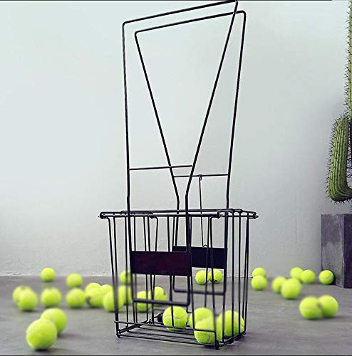 Automatische Tennisbal Picker Deluxe Tennisbal Mand Met Wielen (Houdt 72Balls), Zwart, Geschikt Voor Buiten Bal Plukken Kader