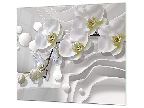 Cubre vitros de Cristal Templado - Tablas para Cortar – Tabla para amasar y Protector de vitro – UNA Pieza (60 x 52 cm) o Dos Piezas (30 x 52 cm) 60D06B