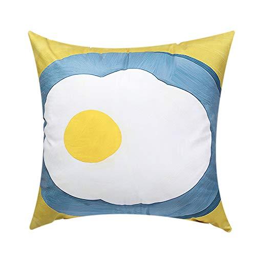KUNHEV Funda de almohada pintada a mano con cremallera invisible, funda de cojín de felpa para sofá de oficina (5)