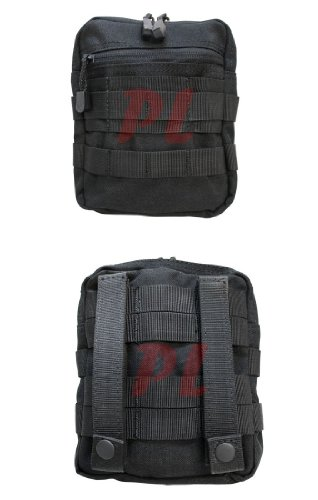 Condor General Purpose Pouch Black, 6 1/4' W x 7 1/4' H x 1 1/2' D