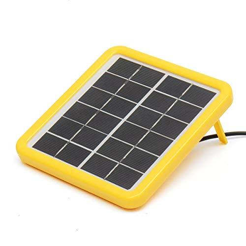 Panel Solar, 6V 2W Mini Panel Solar policristalino Laminado línea de Cabeza de 3M DC